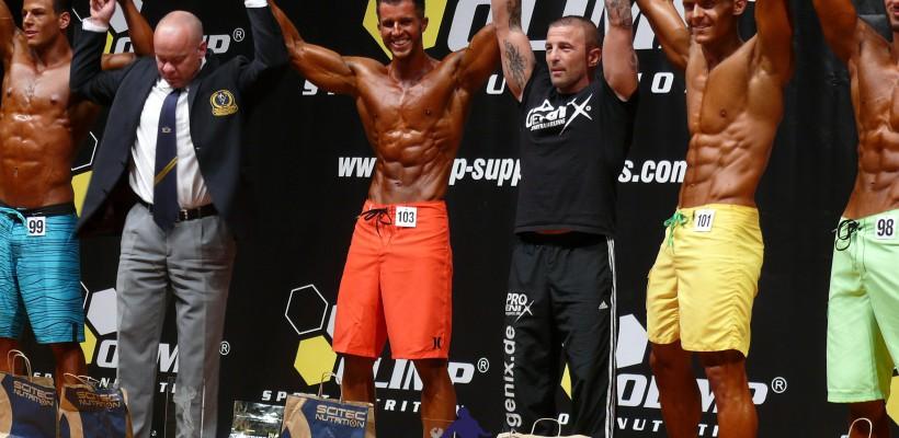 Andrè Merzdorf ist Deutscher Meister 2015 Men's Physique + 180 cm